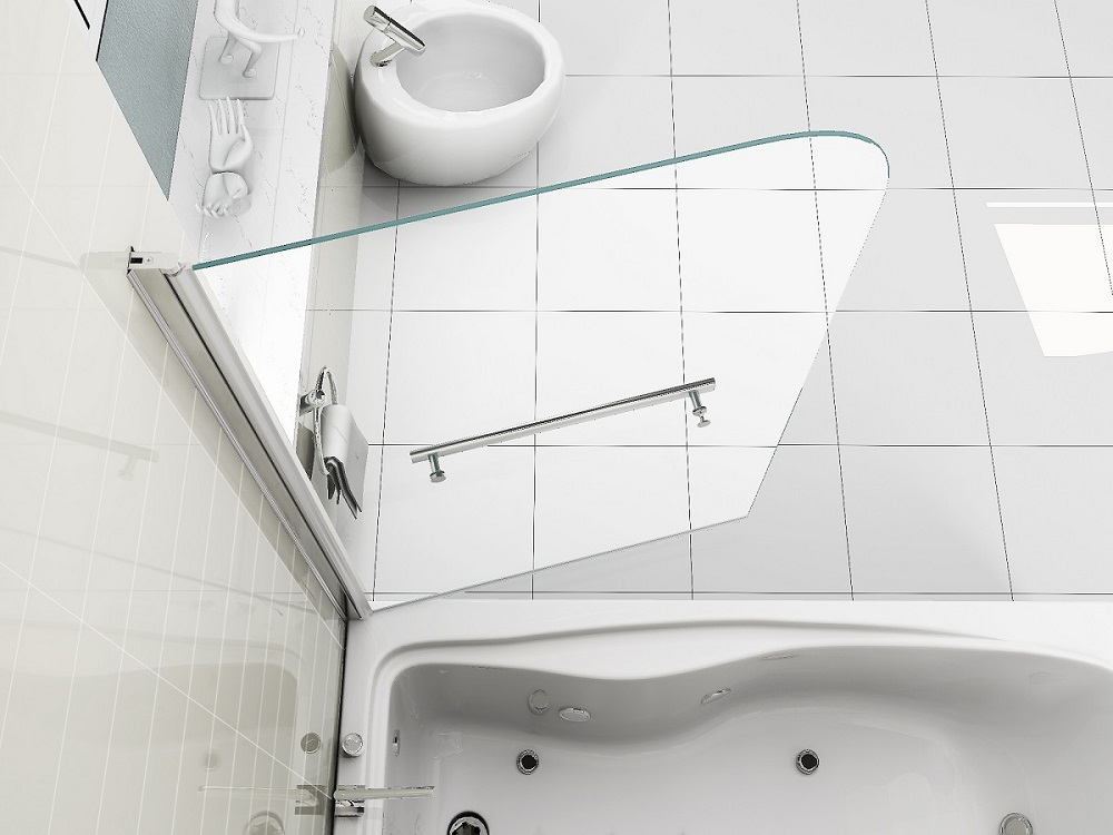 Runddusche Mauern : Bath Shower Screen