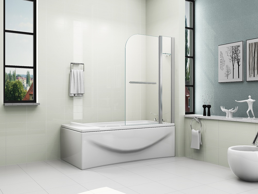 Runddusche Mauern : Bath Shower Screen Over