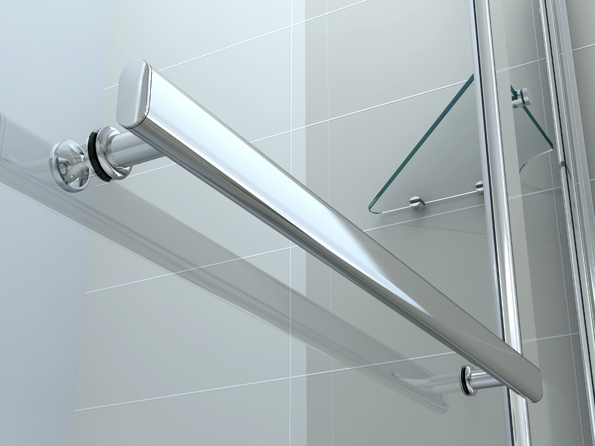 NEW 6mm GLASS DOUBLE OVER BATH SHOWER SCREEN WITH SHELF | eBay