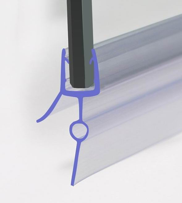 BATH SHOWER SCREEN RUBBER PLASTIC SEAL For 6-8mm GLASS