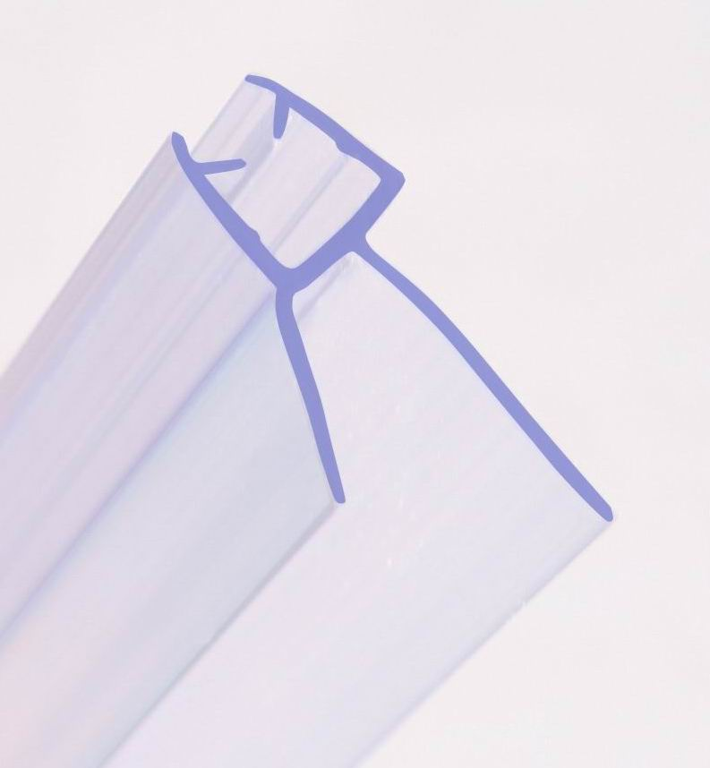 BATH SHOWER SCREEN RUBBER PLASTIC SEAL For 6-8mm CURVED