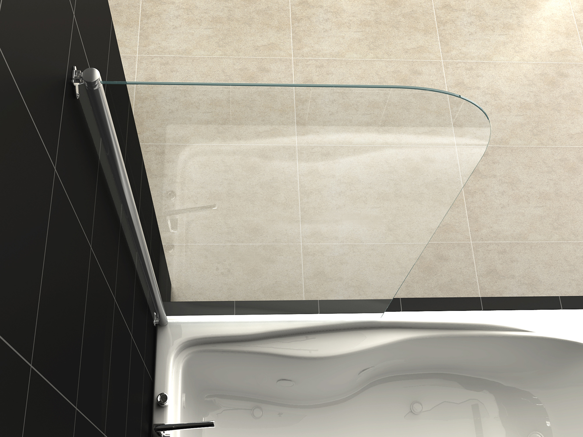 Runddusche Mauern : Glass Shower Screen Panels