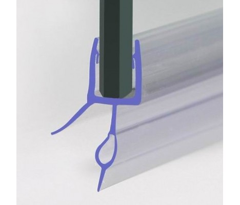 870mm Shower Screen Seal For 4-6mm Glass Up To 14mm Gap