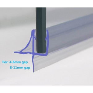 870mm Shower Seal For 4-6mm Glass Up To 11mm Gap
