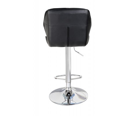 Black Modern Uranus Padded Swivel Faux Leather Breakfast Kitchen Bar Stools Pub Barstools
