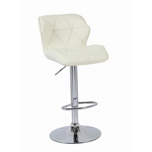 Cream Modern Uranus Padded Swivel Faux Leather Breakfast Kitchen Bar Stools Pub Barstools
