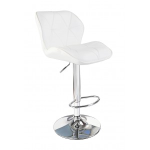 White Modern Uranus Padded Swivel Faux Leather Breakfast Kitchen Bar Stools Pub Barstools