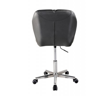 Black Modern Uranus Padded Swivel Faux Leather Computer Desk Office Chair