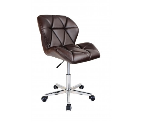 Brown Modern Uranus Padded Swivel Faux Leather Computer Desk Office Chair
