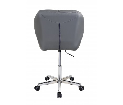 Grey Modern Uranus Padded Swivel Faux Leather Computer Desk Office Chair