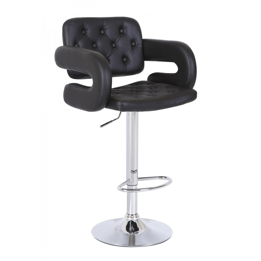 Black Kitchen Bar Stools Uk: Mercury PU Swivel Faux Leather Breakfast Kitchen Bar
