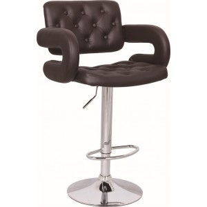 Mercury PU Swivel Faux Leather Breakfast Kitchen Bar Stools Pub Barstools in Brown
