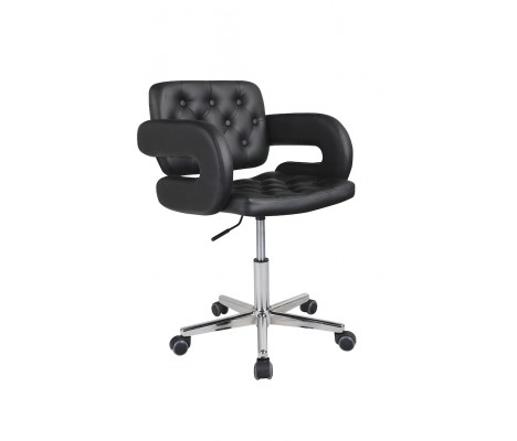 Black Havana Faux Leather Swivel Office Chair