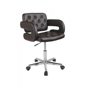 Brown Faux Leather Havana Swivel Office Chair