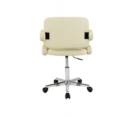 Cream Faux Leather Havana Swivel Office Chair