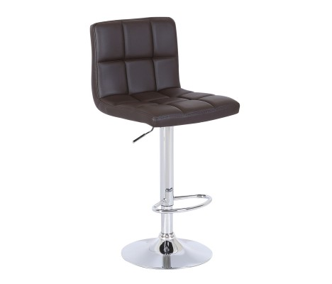 Brown Faux Leather Cuban Swivel Breakfast Kitchen Barstool