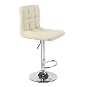 Cream Cuban Faux Leather Swivel Breakfast Kitchen Bar stools
