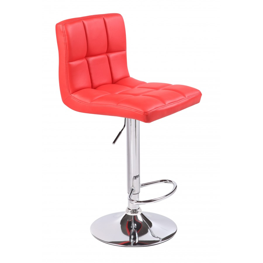 Red Kitchen Bar Stools: Red Cuban Faux Leather Swivel Breakfast Kitchen Bar Stools