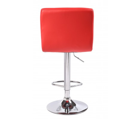 Red Cuban Faux Leather Swivel Breakfast Kitchen Bar stools