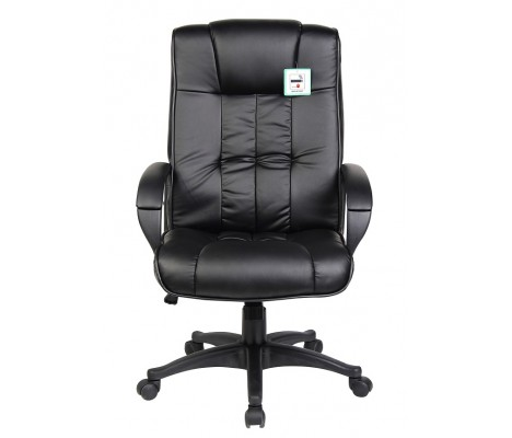 Black Leather Padded Executive Computer Office Chair