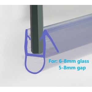 870mm Shower Seal For 6-8mm Glass Up To 8mm Gap