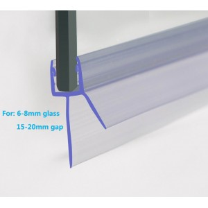 Shower Seal 2350mm In Length For 6-8mm Glass Up to 20mm Gap