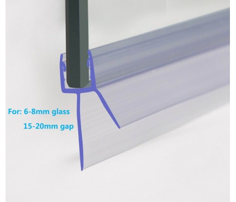 870mm Shower Seal For 6-8mm Glass Up To 20mm Gap