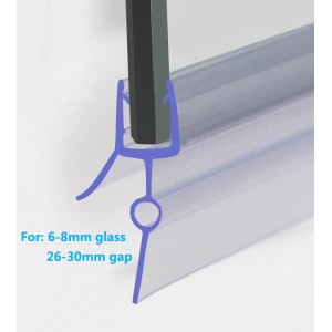 870mm Shower Seal For 6-8mm Glass Up To 30mm Gap