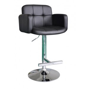New Jupiter Black Faux Leather Swivel Breakfast Kitchen Barstool