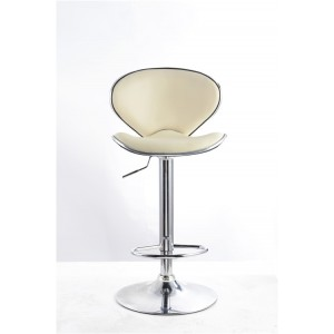 Cream Faux Leather Vegas Swivel Breakfast Kitchen Barstool