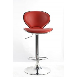 Red Vegas Faux Leather Swivel Breakfast Kitchen Barstool