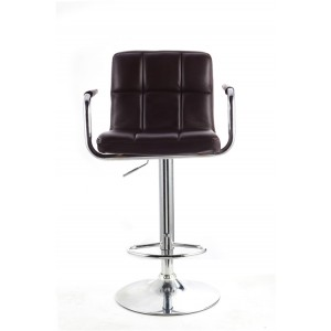 Brown Faux Leather Havana Swivel Breakfast Kitchen Barstool
