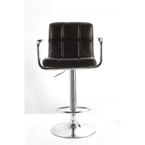 Black Havana Swivel Faux Leather Breakfast Kitchen Barstool