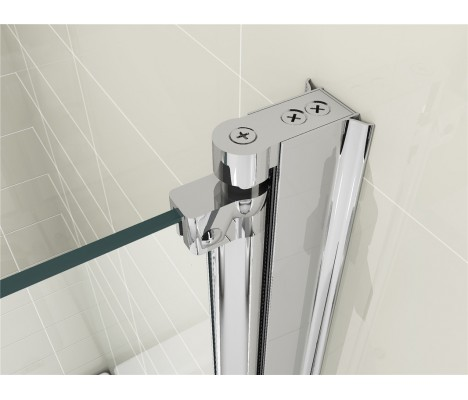180° Pivot Bath Shower Screen Door Panel 6mm Glass