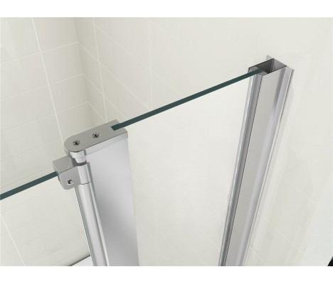 Double Panel Shower Bath Screen 1000 x1400mm