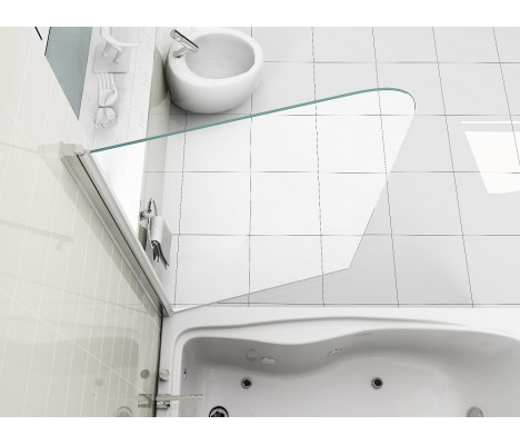 6mm Glass 180° Pivot EASY CLEAN Bath Shower Screen Door Panel