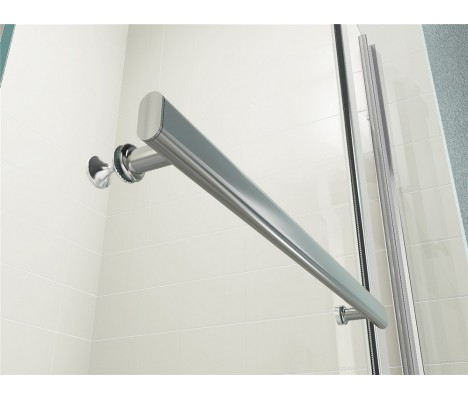 New Sail Style Pivot 6mm Glass Bath Shower Screen Double Panel with Towel Handle