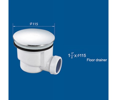 90mm FAST FLOW WASTE TRAP FOR SHOWER ENCLOSURE TRAY FLEXIBLE PIPE