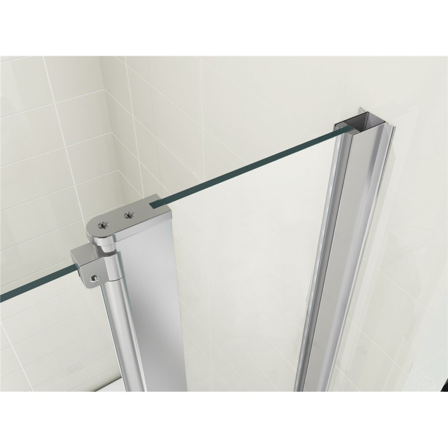 180 176 Pivot 6mm Glass Double Panel Shower Bath Screen With