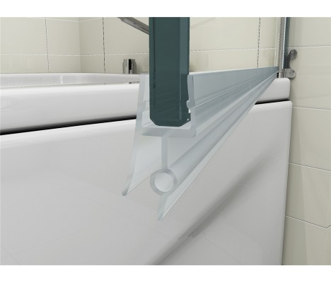 180° Pivot 6mm Glass Double Panel Shower Bath Screen with Towel Handle