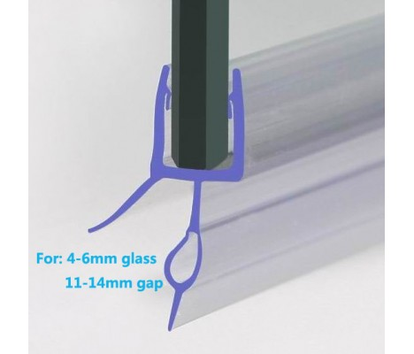 870mm Shower Seal For 6-8mm Glass Up To 14mm Gap